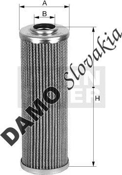 Filter hydrauliky MANN FILTER HD 882
