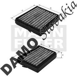 Kabínový filter MANN FILTER CU 21 000-2