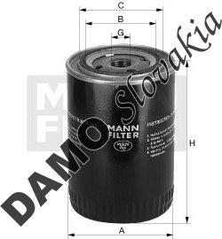 Olejový filter MANN FILTER W 920/11
