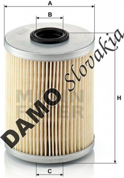 Palivový filter MANN FILTER P 718 x