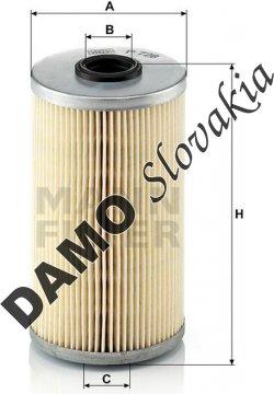 Palivový filter MANN FILTER P 726 x