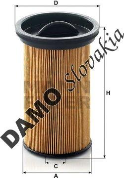 Palivový filter MANN FILTER PU 742