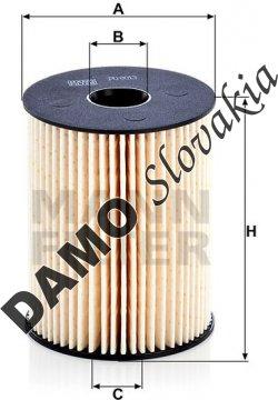 Palivový filter MANN FILTER PU 8013 z
