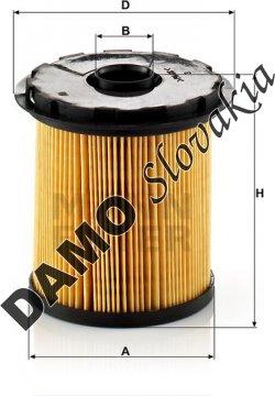Palivový filter MANN FILTER PU 822 x