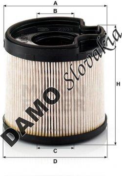Palivový filter MANN FILTER PU 922 x