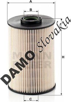 Palivový filter MANN FILTER PU 937 x