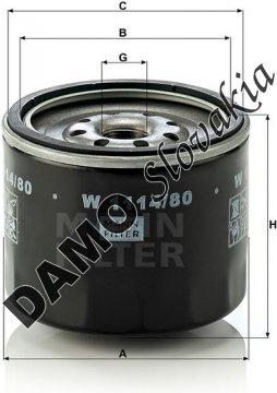 Olejový filter W 1114/80