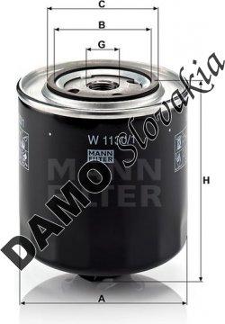 Olejový filter MANN FILTER W 1130/1