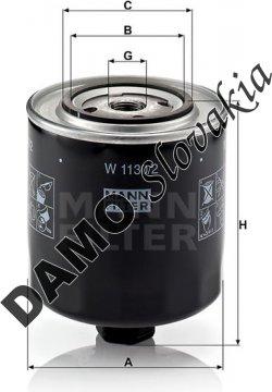 Olejový filter MANN FILTER W 1130/2
