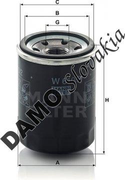 Olejový filter MANN FILTER W 610/2