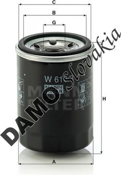 Olejový filter MANN FILTER W 610/3