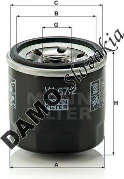 Olejový filter W 67/2