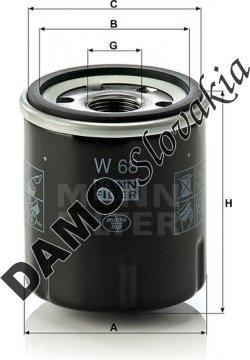 Olejový filter MANN FILTER W 68