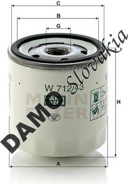 Olejový filter MANN FILTER W 712/43