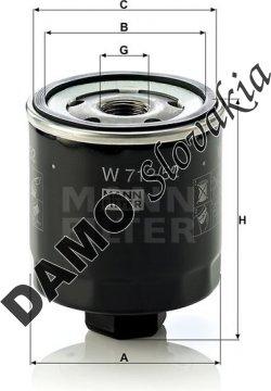 Olejový filter MANN FILTER W 712/52