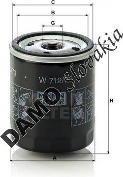 Olejový filter MANN FILTER W 712/73