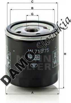 Olejový filter MANN FILTER W 712/75