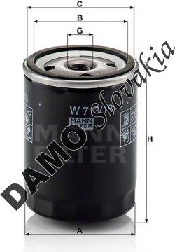 Olejový filter MANN FILTER W 713/18