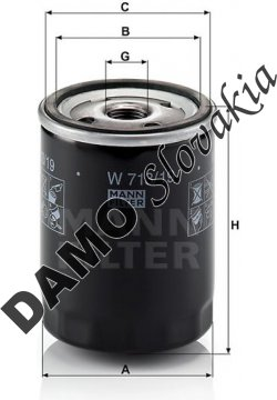 Olejový filter MANN FILTER W 713/19