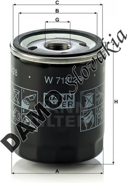 Olejový filter W 713/28