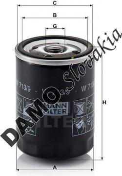 Olejový filter MANN FILTER W 713/9