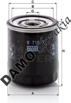 Olejový filter MANN FILTER W 716/2