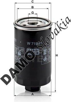 Olejový filter MANN FILTER W 719/21