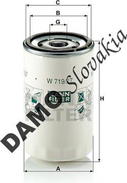 Olejový filter MANN FILTER W 719/27