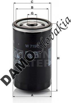 Olejový filter MANN FILTER W 719/5