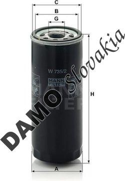 Olejový filter W 735/2