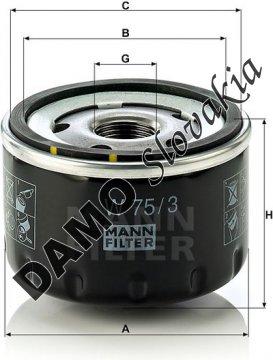 Olejový filter W 75/3