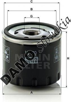 Olejový filter MANN FILTER W 79