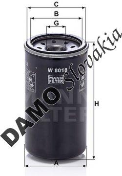 Olejový filter W 8018