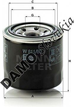 Olejový filter W 811/80