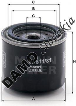 Olejový filter MANN FILTER W 811/81