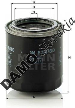 Olejový filter W 814/80