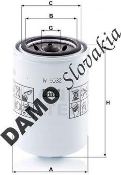 Olejový filter MANN FILTER W 9032