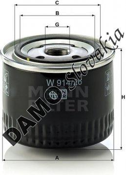 Olejový filter MANN FILTER W 914/26