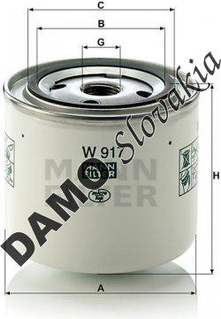 Olejový filter MANN FILTER W 917