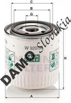 Olejový filter MANN FILTER W 920/38