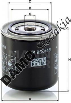 Olejový filter MANN FILTER W 920/46