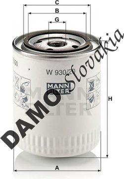 Olejový filter MANN FILTER W 930/20
