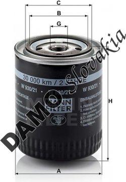 Olejový filter MANN FILTER W 930/21