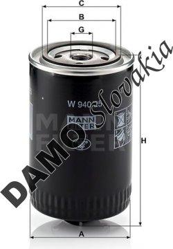 Olejový filter W 940/25