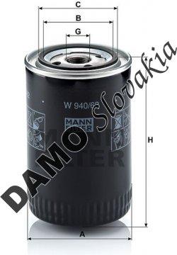 Olejový filter MANN FILTER W 940/62
