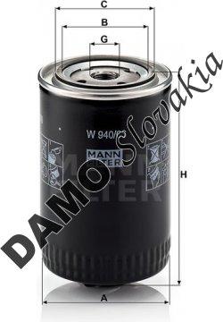 Olejový filter MANN FILTER W 940/66