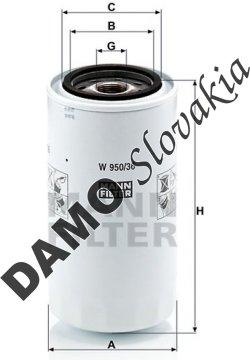 Olejový filter MANN FILTER W 950/36