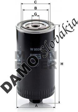 Olejový filter MANN FILTER W 950/4