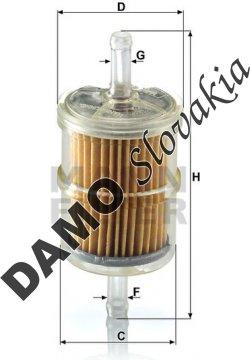 Palivový filter MANN FILTER WK 42/2
