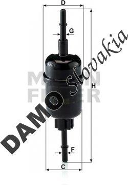 Palivový filter WK 511/2